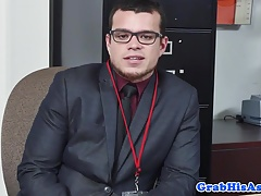 Cocksucking suit and tie office anal fucking