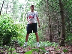 Wanking in the woods 1
