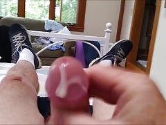 Jerking off a load