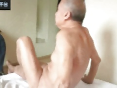 cute Chinese grandpa & young dick