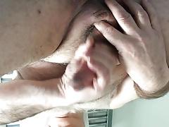 Big spunking mature masturbater