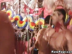 Super Hot Latino Gay Party Ends up with Gay Couple bareback