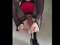 Foot Fetish with Anal Sex Machine