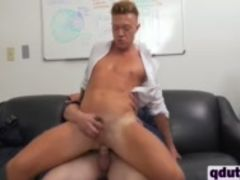 Young dude riding monster dick