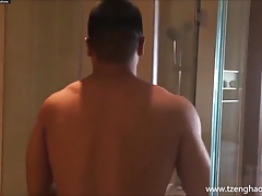 Muscle Bear Taking Shower