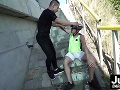 Horny Peter One and handsom Rosta Benecky fucking outdoor