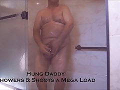 Hung Daddy Showers & Shoots a Mega Load HD