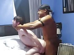 Black gay fucks hard