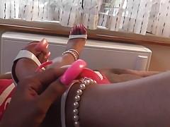 Lofiatona sexy pink nails 1