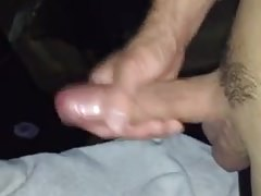 He jerks off his uncut cock